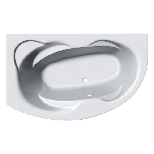Eclipse 1500mm x 1000mm Offset Corner Bath & Panel - Left Hand